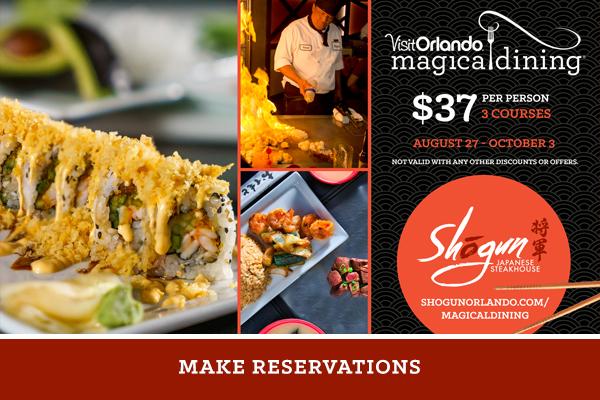 Shogun Orlando Magical Dining 2021