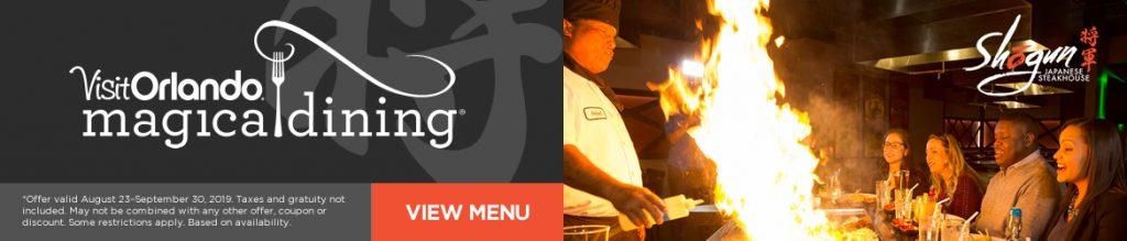 Shogun Japanese Steakhouse Magical Dining Month