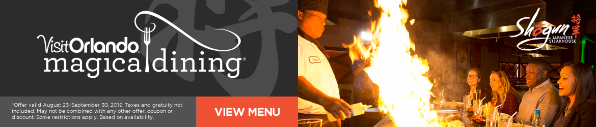 Shogun Japanese Steakhouse Magical Dining Month