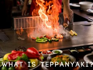 "d8d09f907866 The word teppanyaki directly translates to ""grilling on an iron plate.""  You ll commonly see steak"